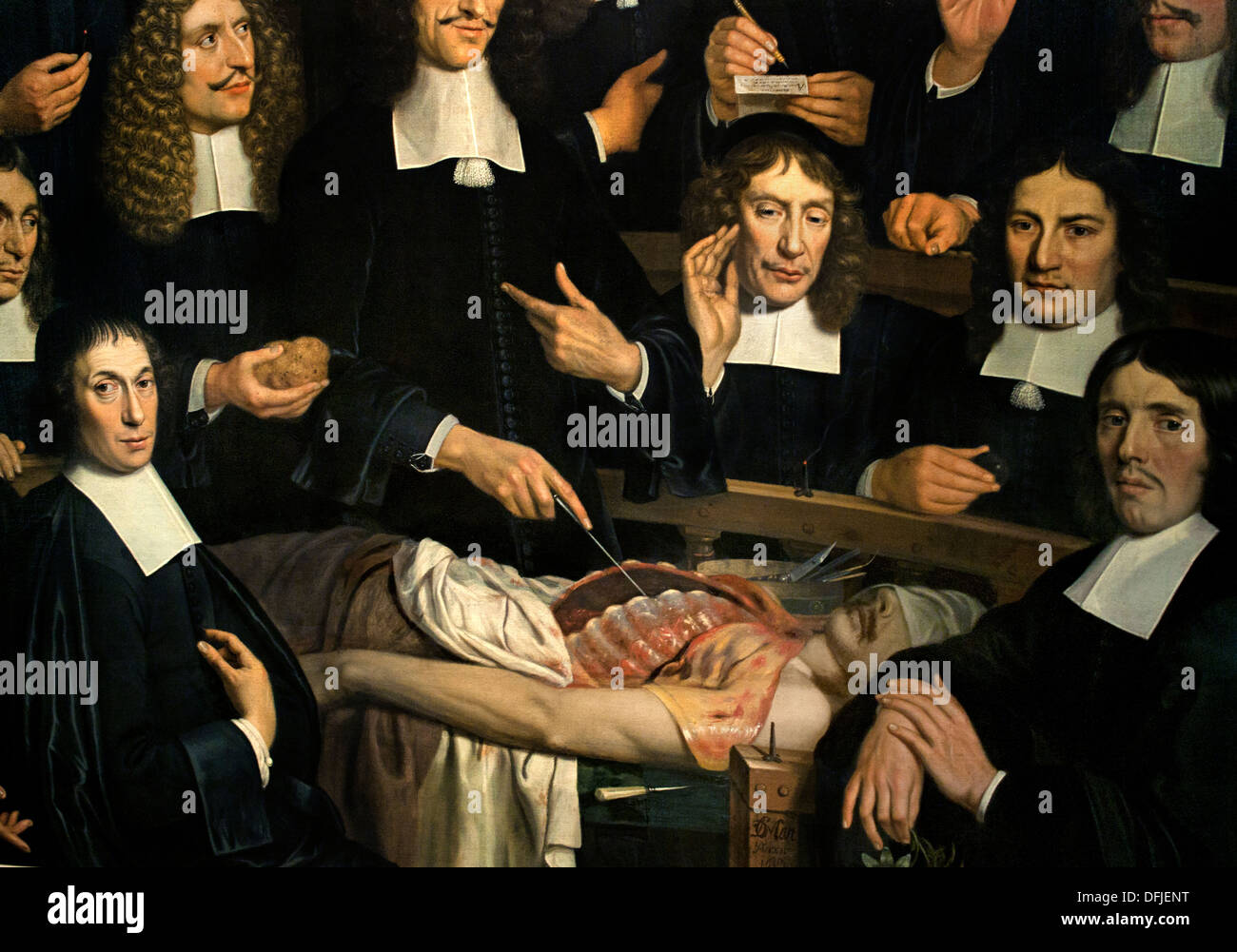 The anatomy lesson of dr Cornelis Isaacz \'s Gravenzande 1681 Museum ...