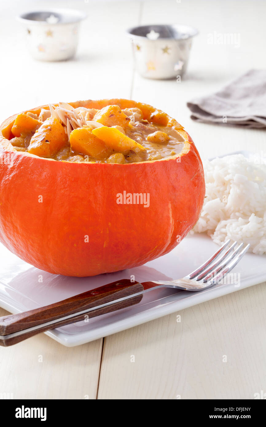 Pumpkin and Chickpea Curry - Stock Image