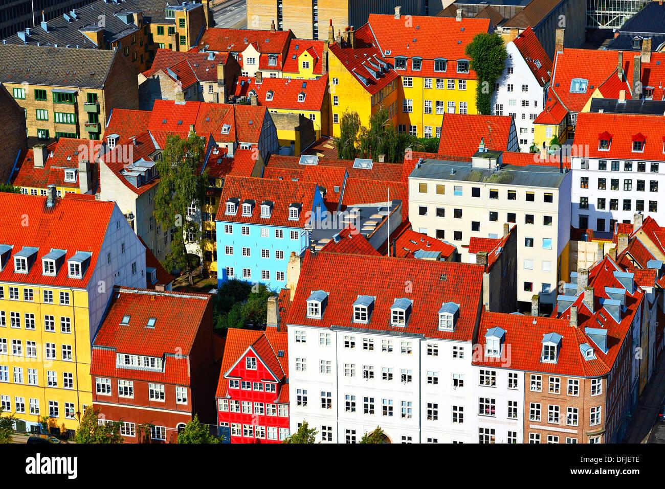 Residential buildings in Copenhagen, Denmark. - Stock Image