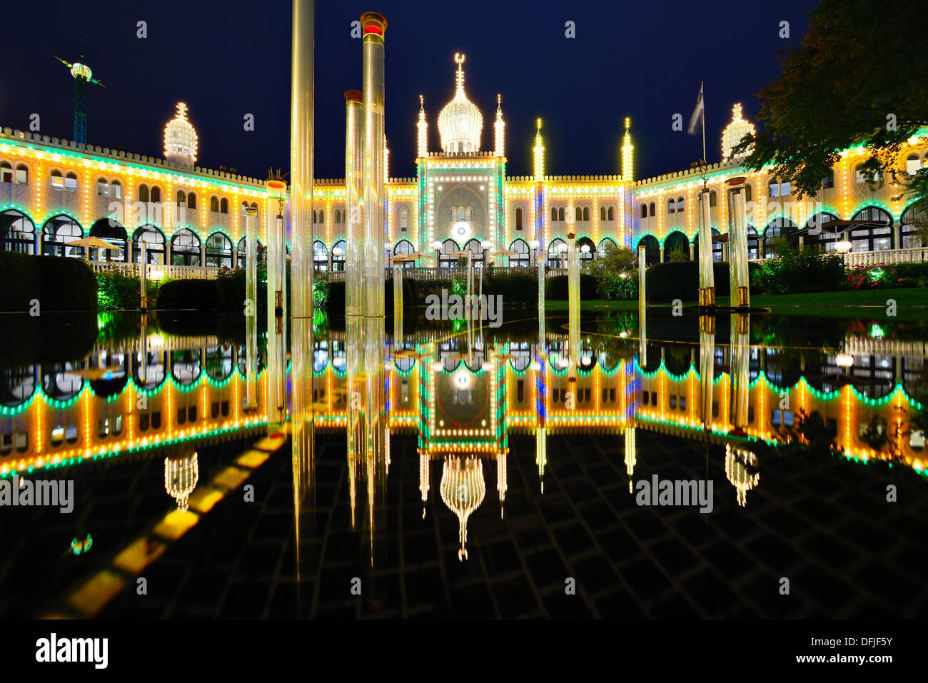 Moorish Theater in Copenhagen, Denmark. - Stock Image