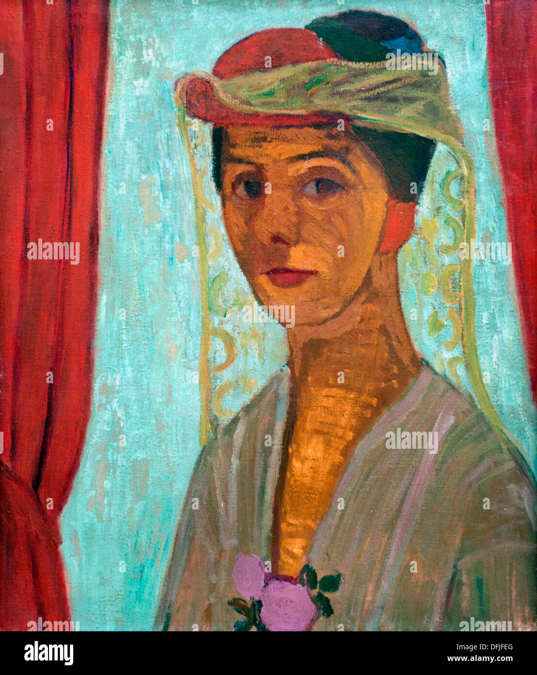 Selfportrait  with hat and veil 1906 Paula Modersohn 1876-1907  Becker German Germany - Stock Image