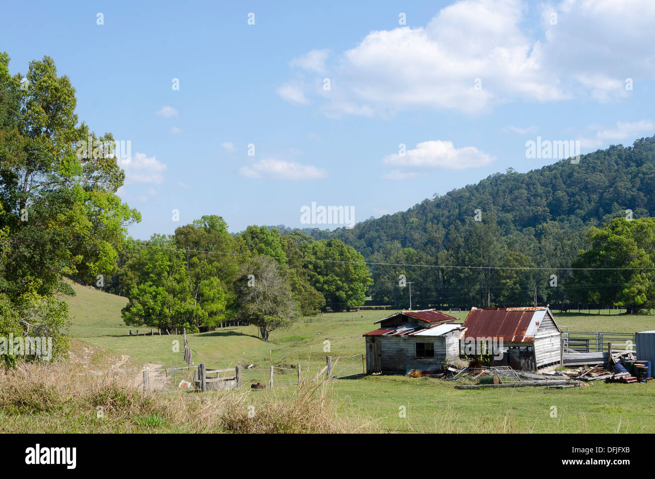 Old Farm House Numinbah Valley Near Surfers Paradise Queensland Stock Photo Alamy