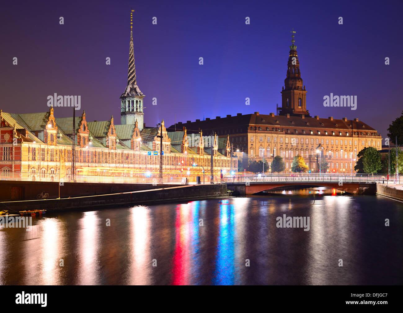 Christianborg Palace in Copenhagen, Denmark. - Stock Image