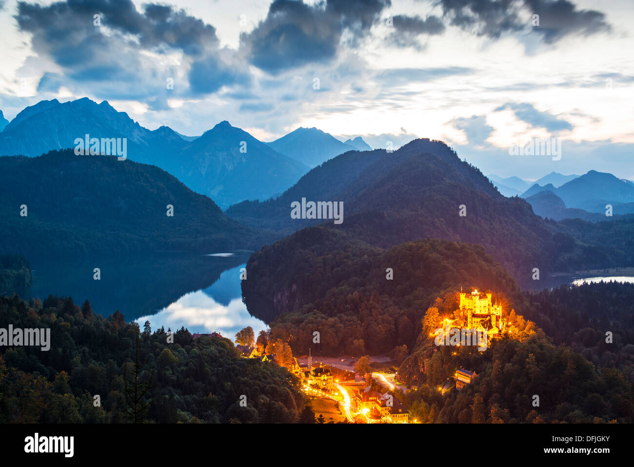Hohenschwangau Castle in the Bavarian Alps of Germany. - Stock Image