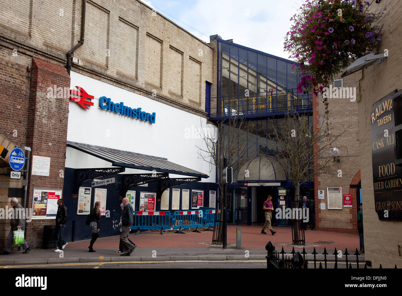 Chelmsford Train Station in Essex - Stock Image