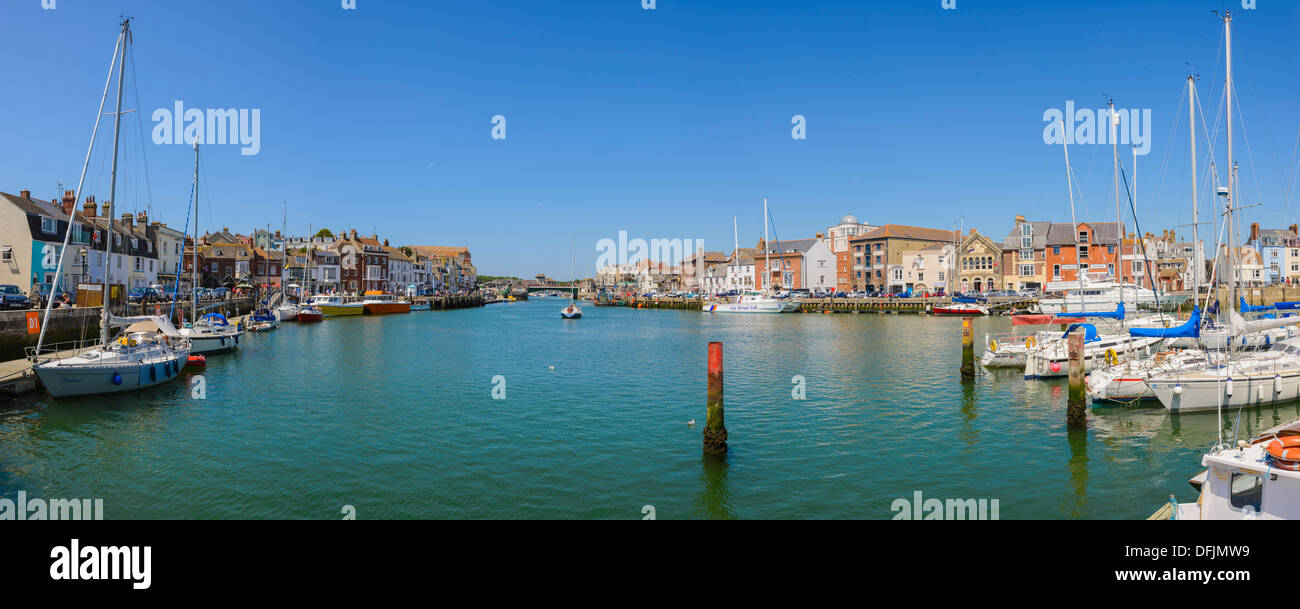 Weymouth Harbour, Dorset, England Stock Photo
