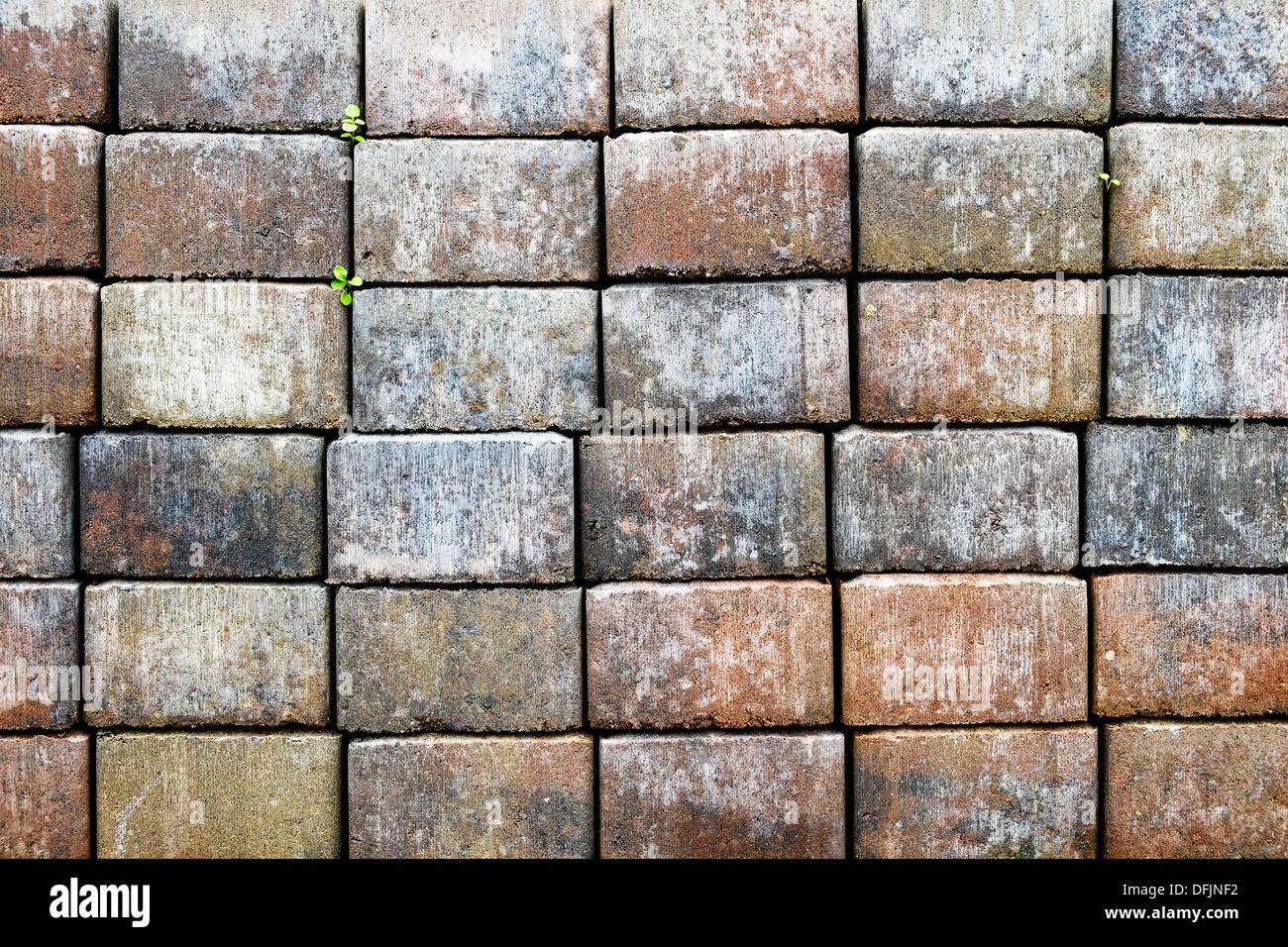 Stacked bricks forming a regular pattern - Stock Image