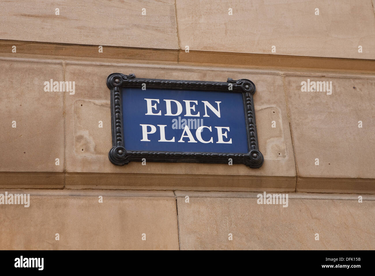 Eden Place wall sign In Birmingham UK - Stock Image