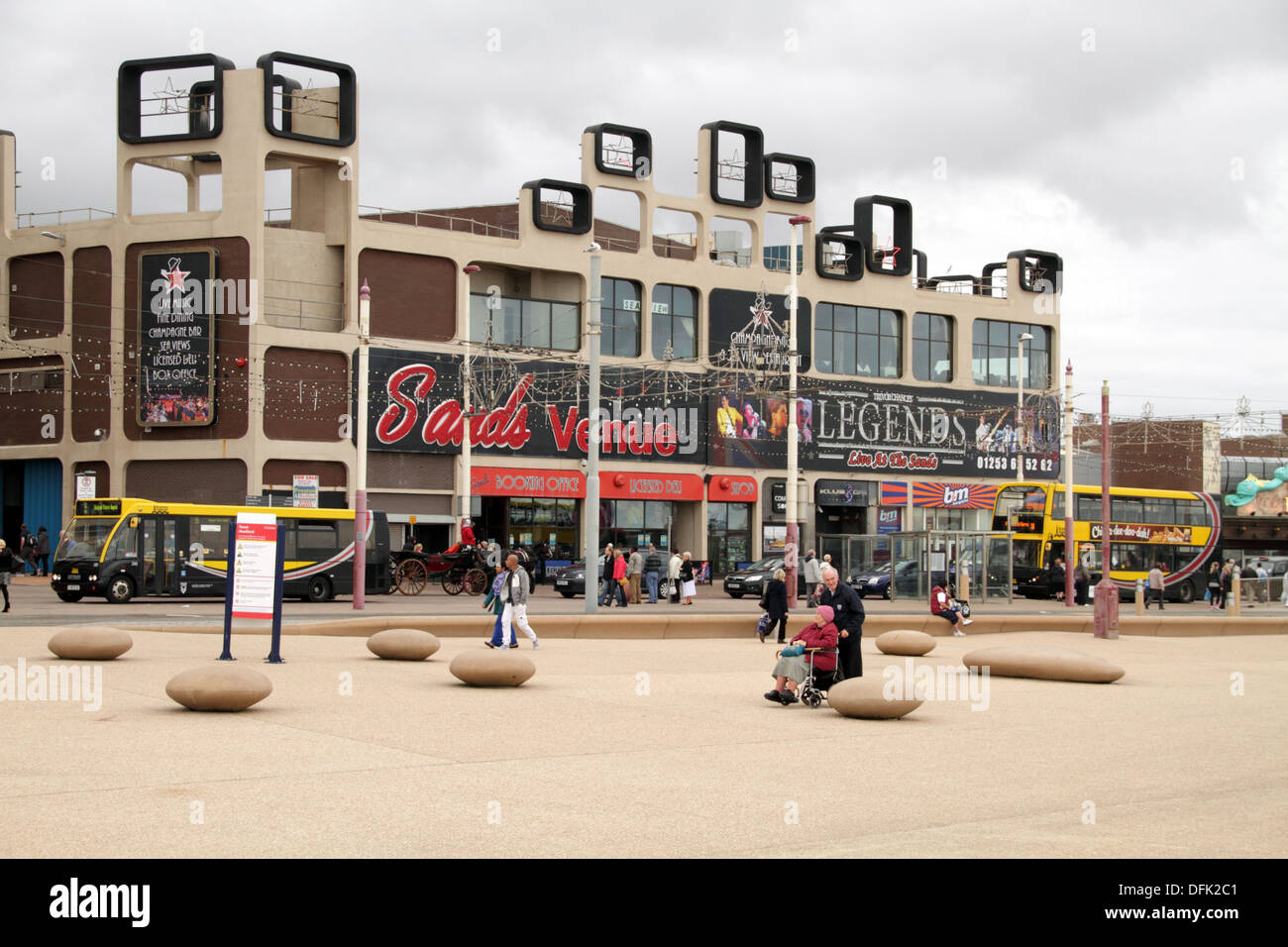 Entertainment venues on Blackpool front - Stock Image