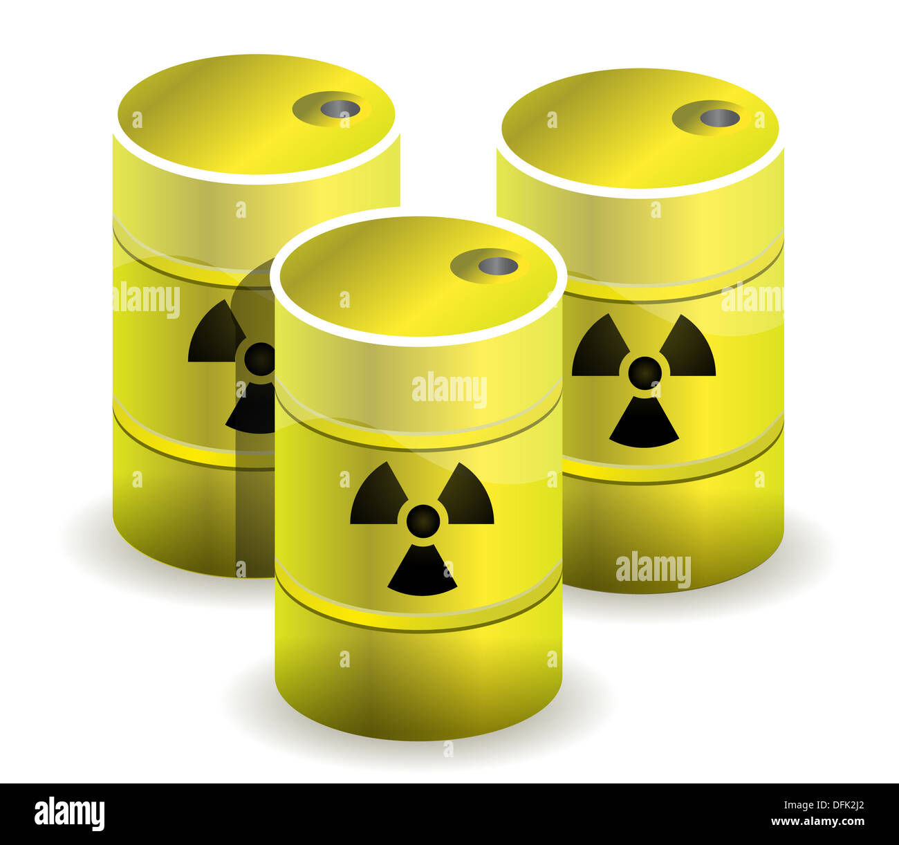 Radioactive Symbol Imprinted Onto A Nuclear Waste Barrels Stock