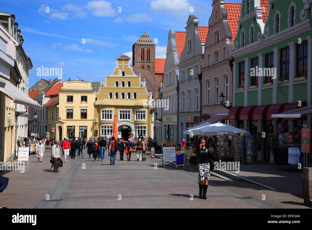 KRAEMERSTRASSE, Wismar, Baltic Sea, Mecklenburg West Pomerania, Germany Stock Photo