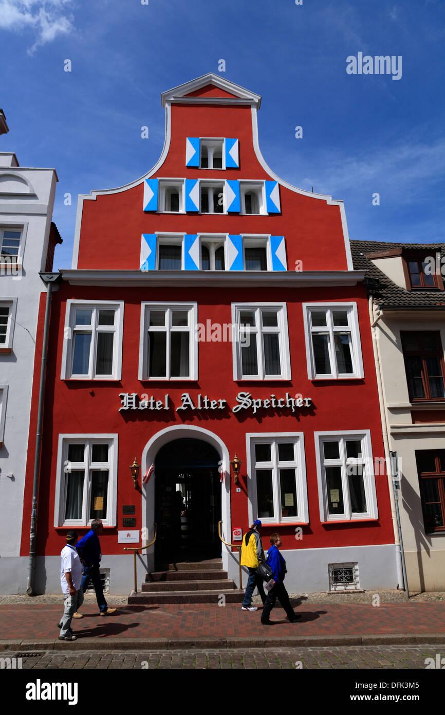 Wismar, Hotel ALTER SPEICHER, Bohrstrasse, Baltic Sea, Mecklenburg West Pomerania, Germany - Stock Image