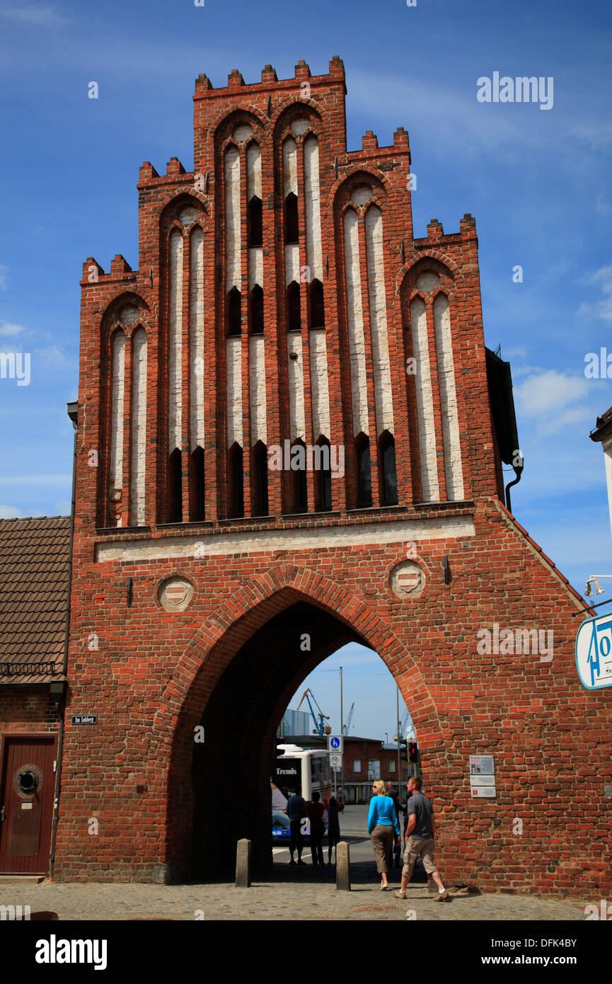 Wassertor in Wismar, Baltic Sea, Mecklenburg West Pomerania, Germany - Stock Image
