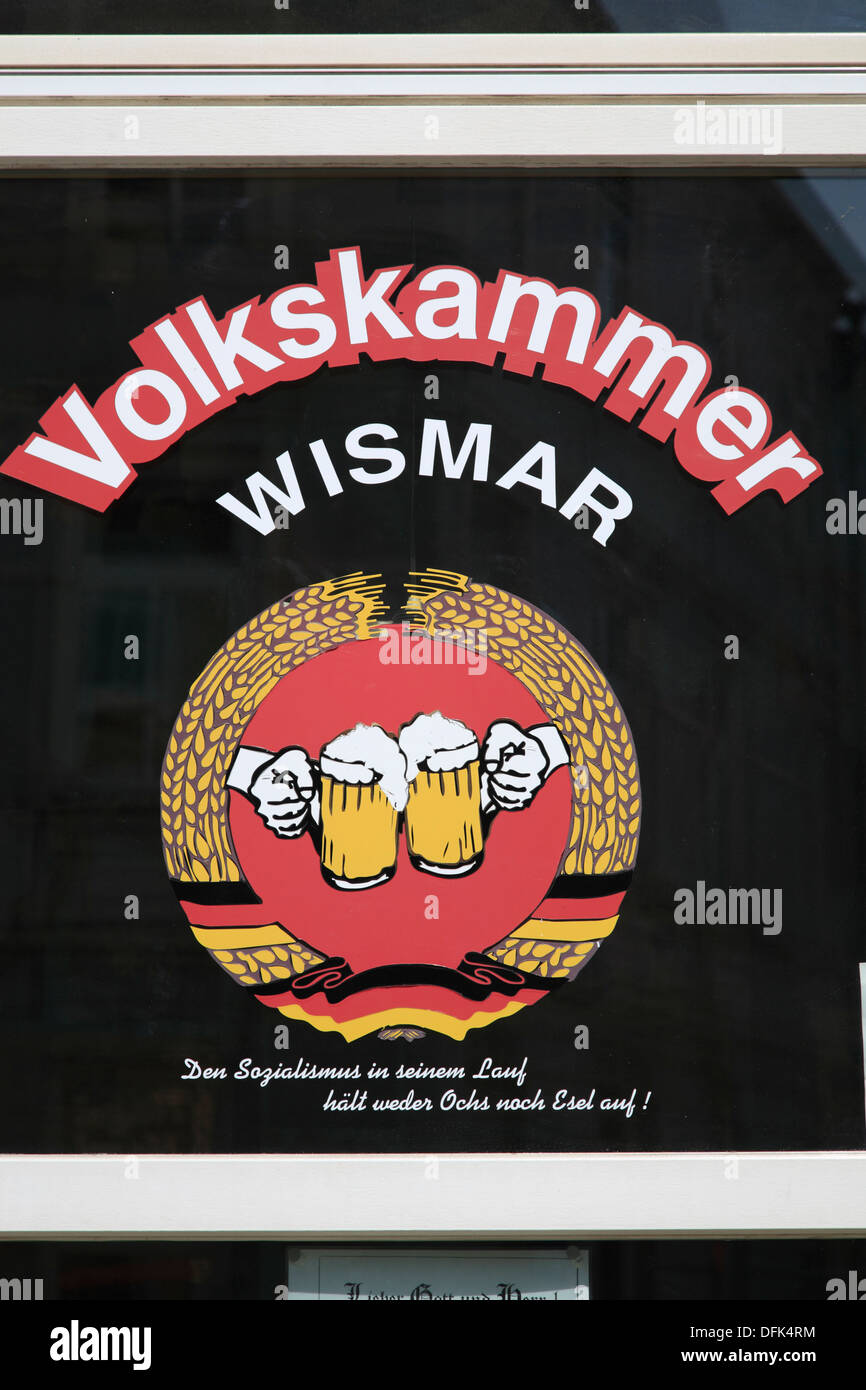 Bar VOLKSKAMMER, Wismar, Baltic Sea, Mecklenburg West Pomerania, Germany - Stock Image