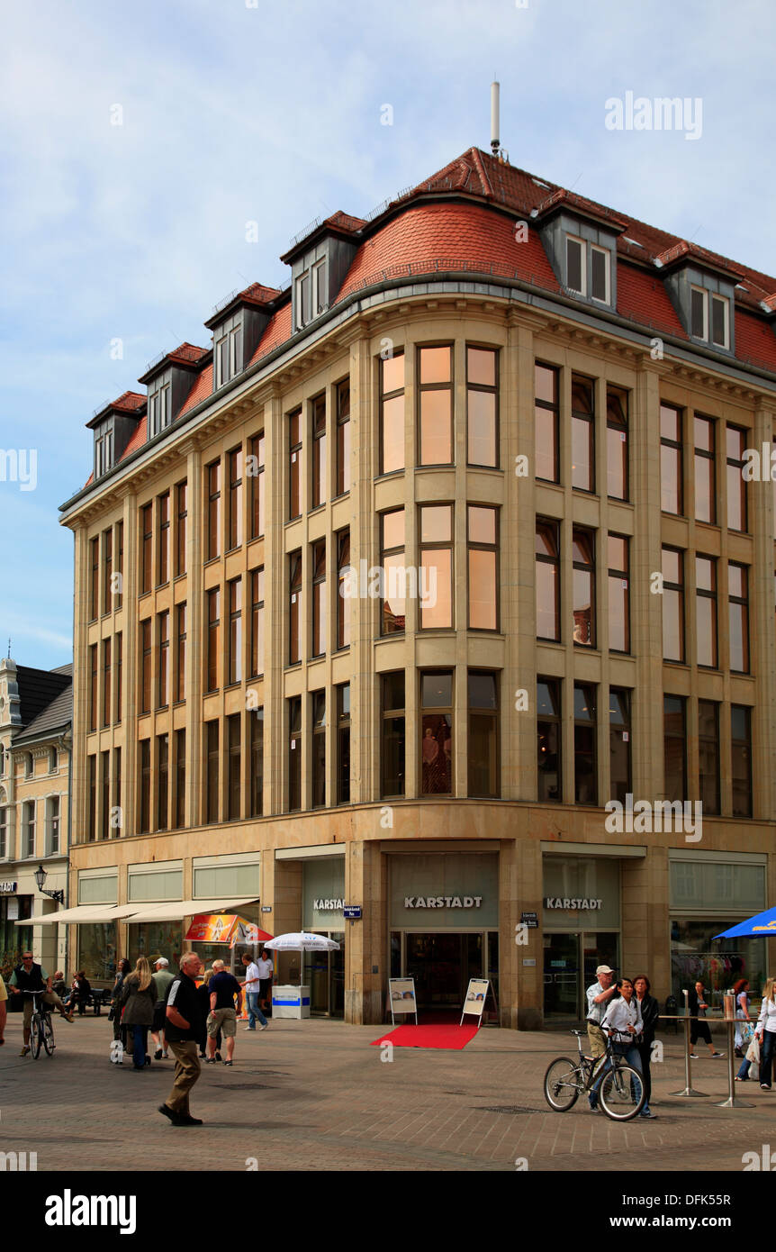 First Karstadt department store in Germany , Wismar, baltic Sea, Mecklenburg West Pomerania, Germany - Stock Image