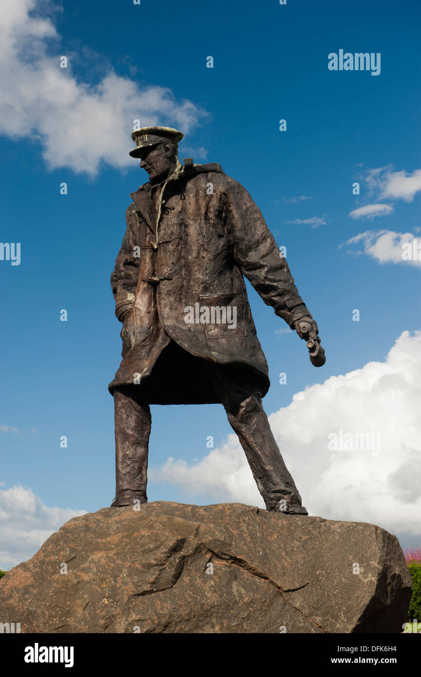 Sir David Stirling, founder of the SAS, memorial statue, near Stirling, Scotland. - Stock Image