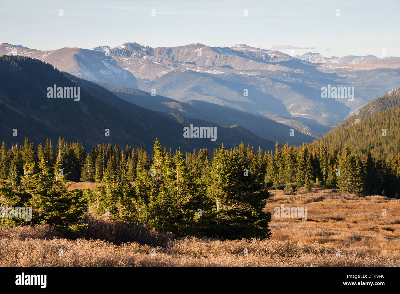 Looking north over Guanella Pass, Colorado - Stock Image
