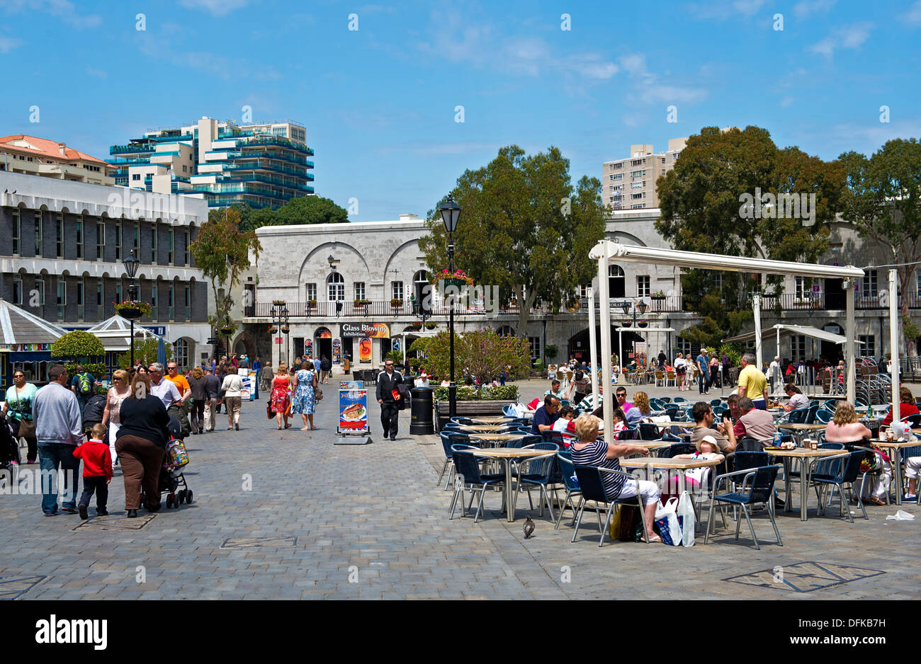 At Grand Casemates Square, Gibraltar - Stock Image
