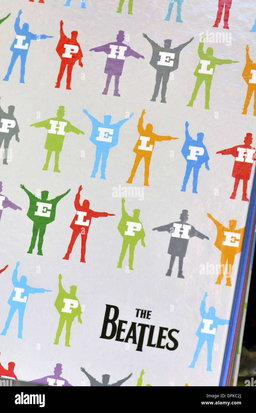 Book cover design with the Beatles - Stock Image