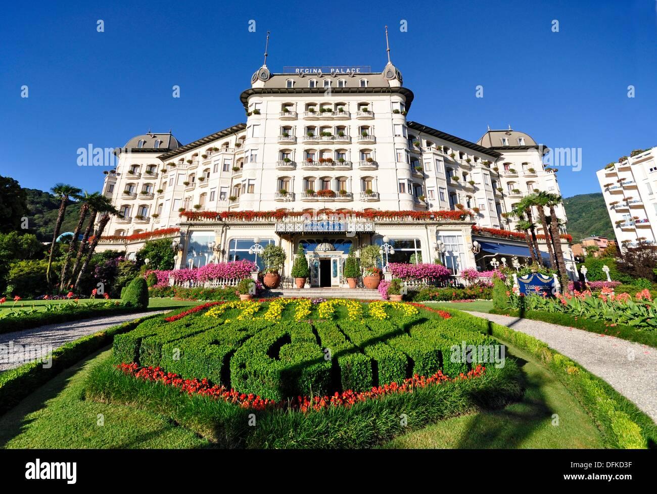 Regina palace hotel stresa lago maggiore italy stock for Designhotel lago maggiore