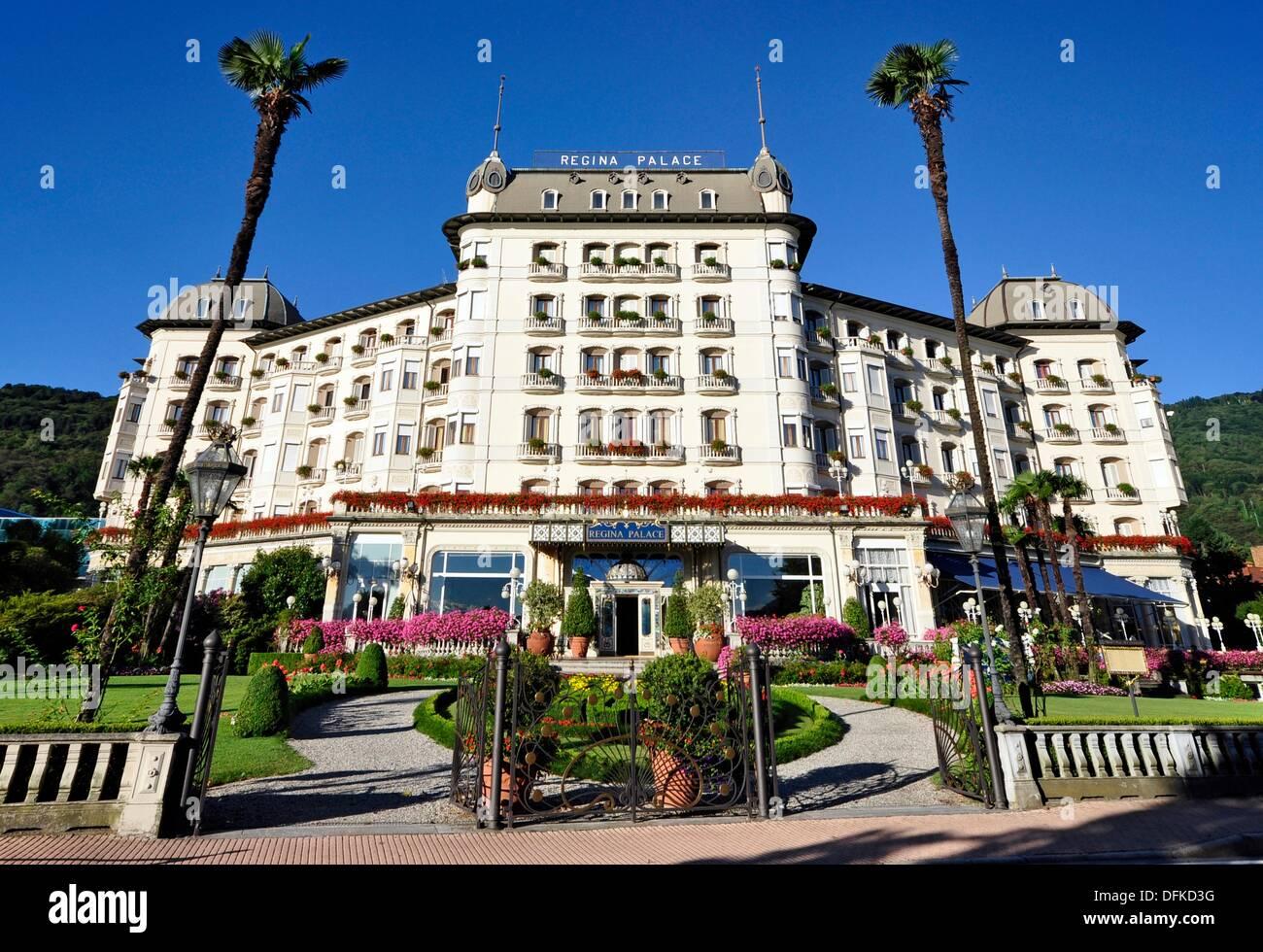 Regina Palace Hotel Stresa Lago Maggiore Italy Stock Photo Alamy