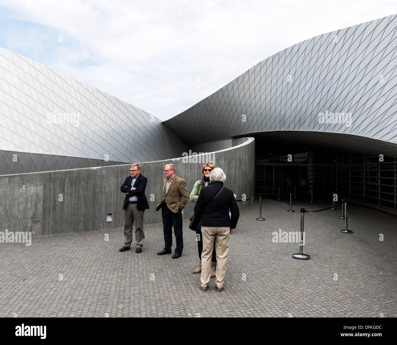 Den Blå Planet (The Blue Planet, Denmarks National Aquarium), Copenhagen, Denmark. Architect: 3XN, 2013. Entrance Stock Photo