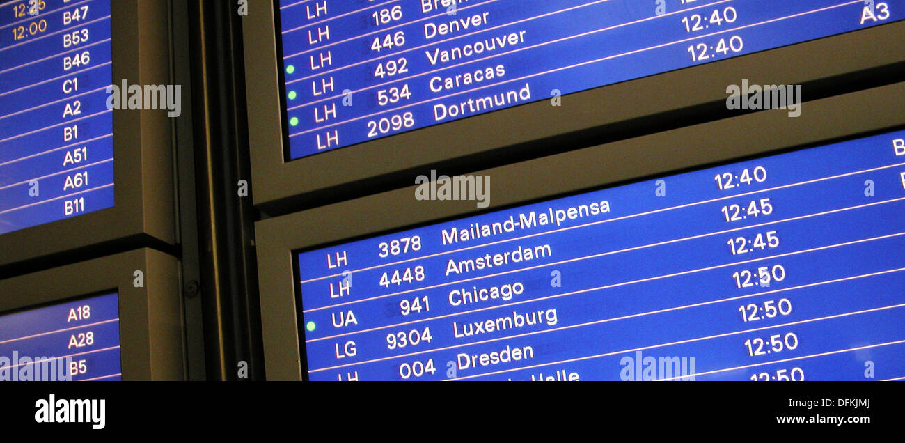 Departures Frankfurt Flughafen