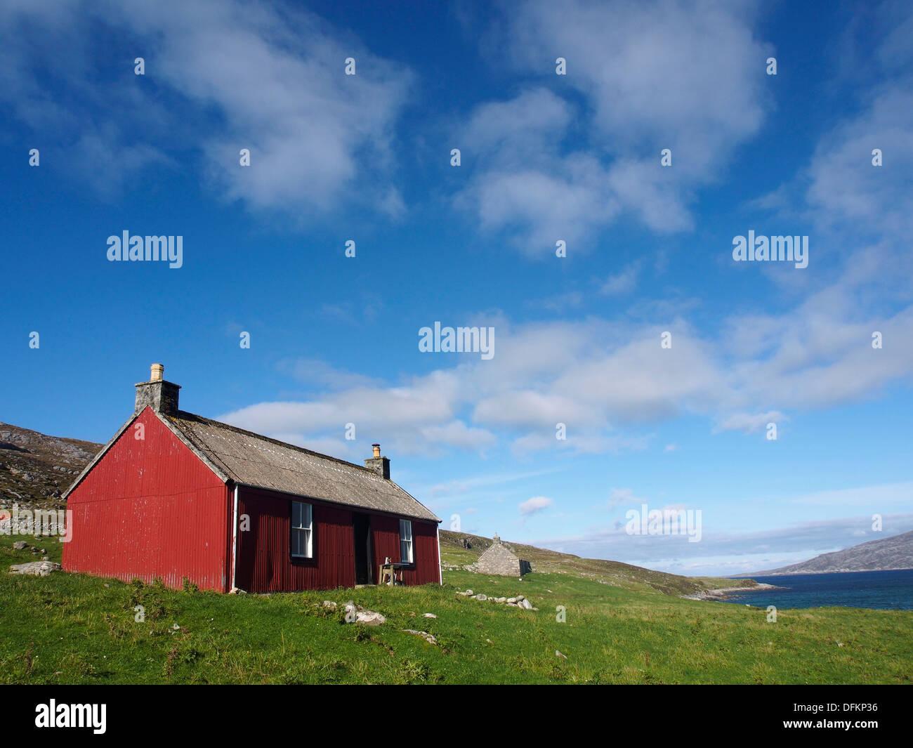Red house, Scarp, Scotland - Stock Image
