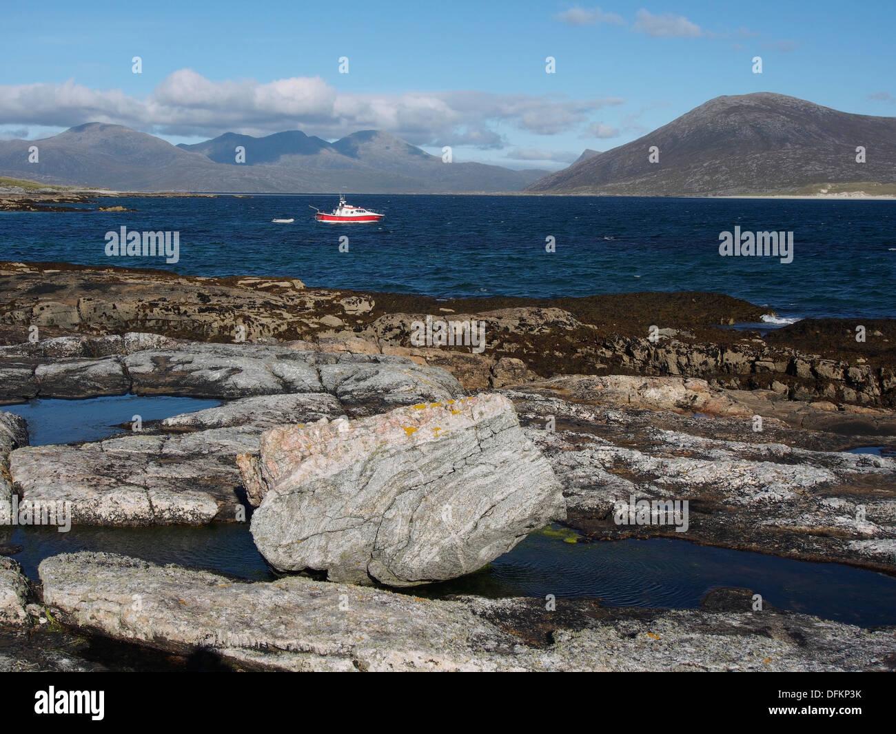 MV Enchanted Isle, Taransay, Scotland - Stock Image