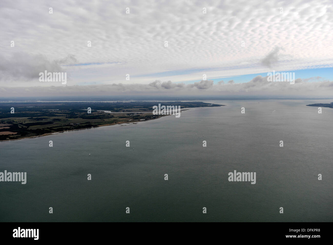 Aerial photograph of The Solent - Stock Image