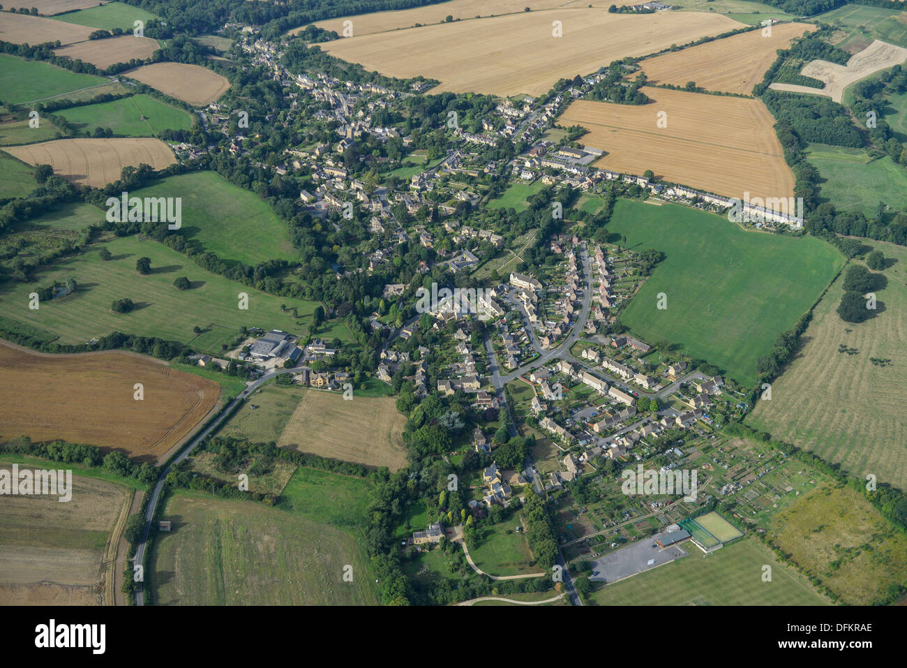 Aerial photograph of Blockley - Stock Image
