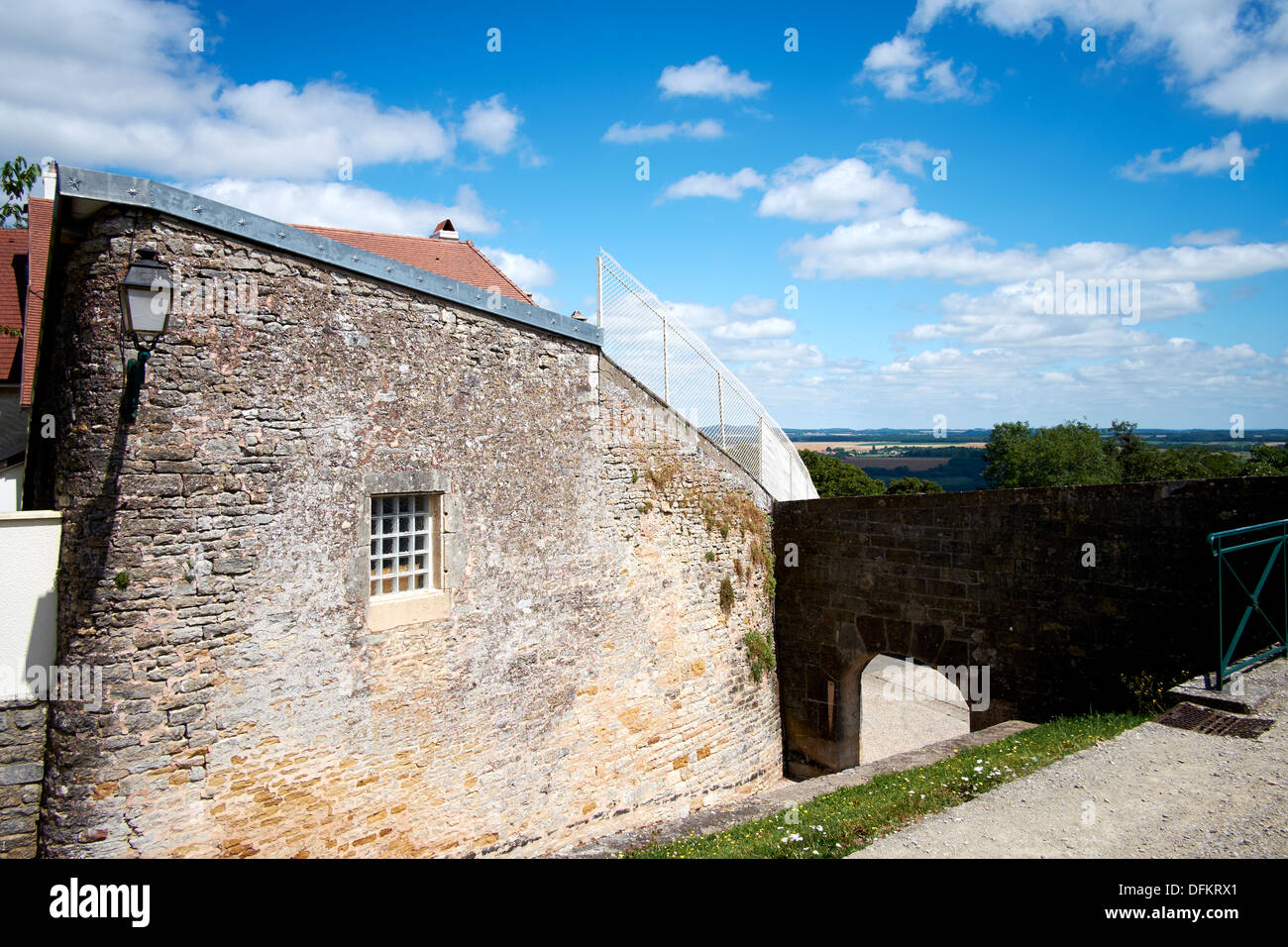 Town-wall of Langres, France - Stock Image