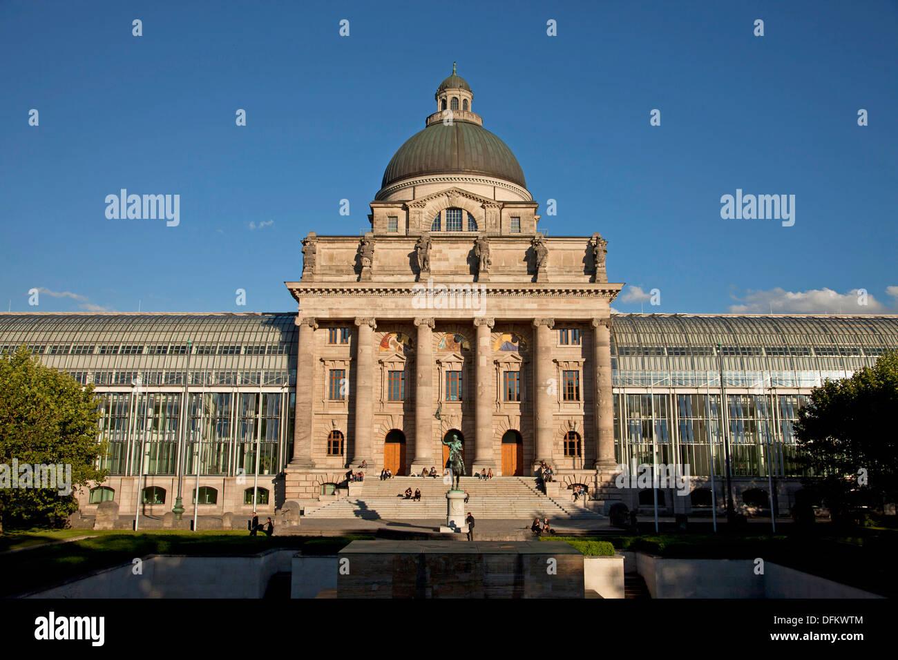 The Bayerische Staatskanzlei, Bavarian State Chancellery in Munich, Bavaria, Germany - Stock Image