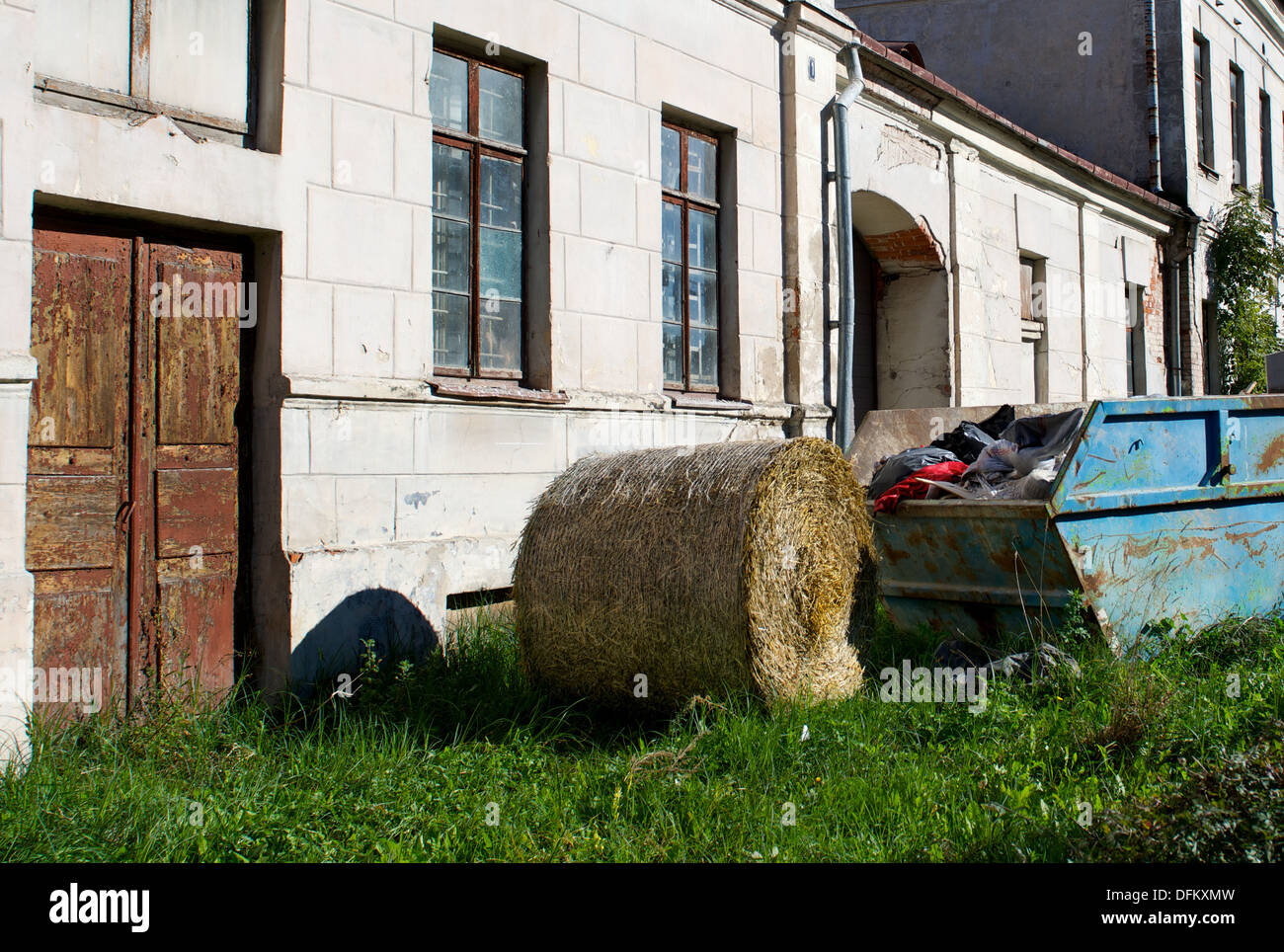 Street view, street in Kaunas, Lithuania - Stock Image