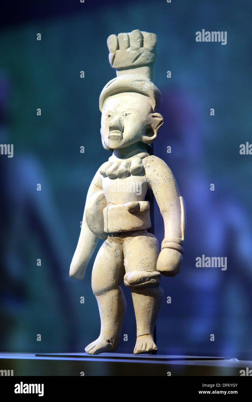 Hip-ballplayer.Mesoamerican ballgame.Huastec.Veracruz. Mexico 300 A.D. - Stock Image