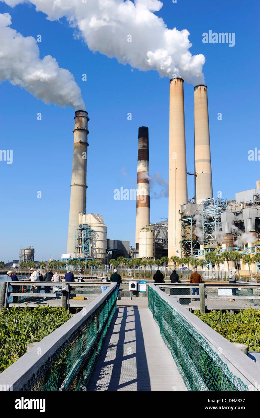 TECO Tampa Electric Company Manatee Viewing Center Apollo Beach Florida - Stock Image