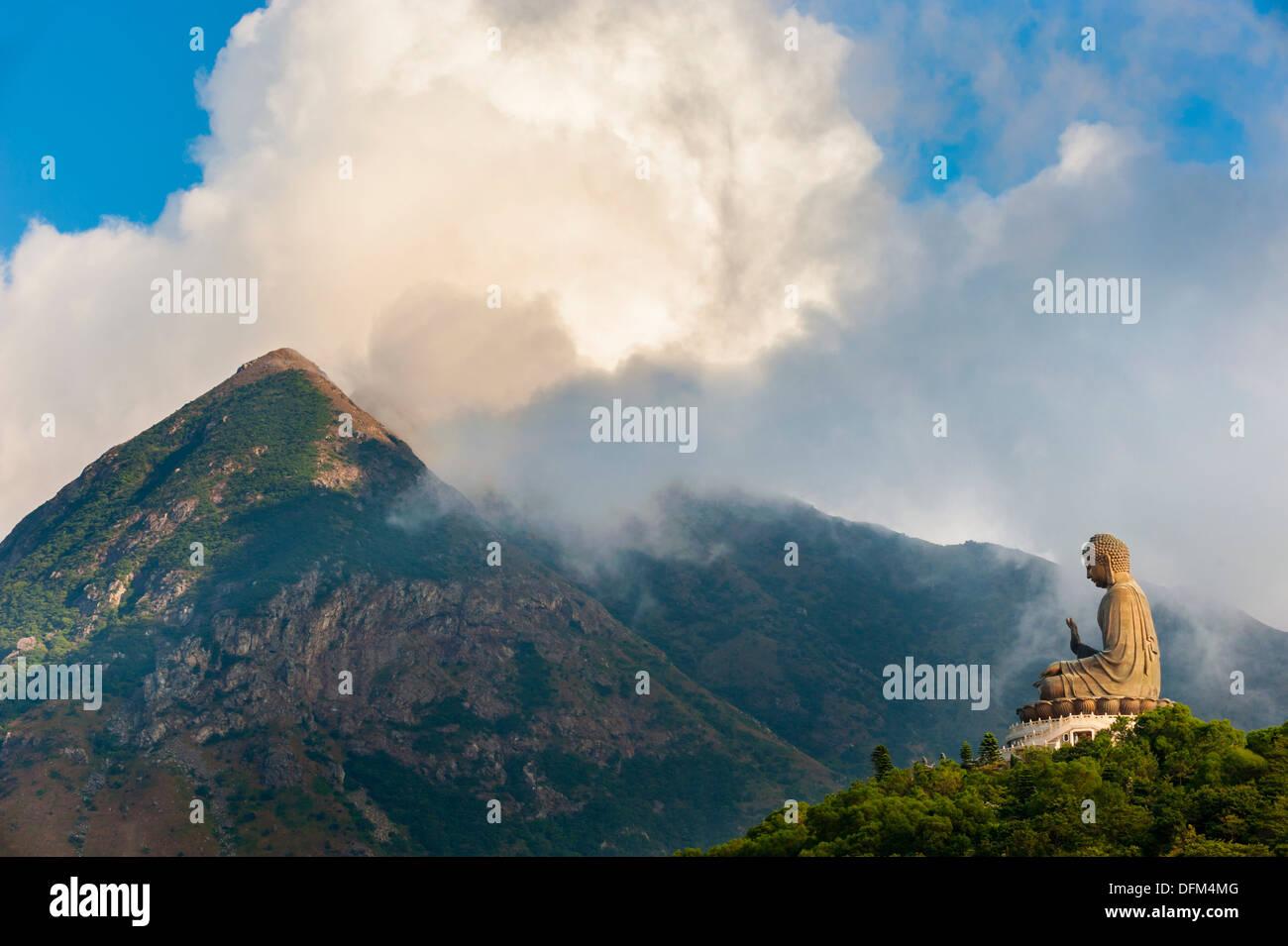 The Big Buddha at the Po Lin Monastery, Lantau Island, Hong Kong - Stock Image