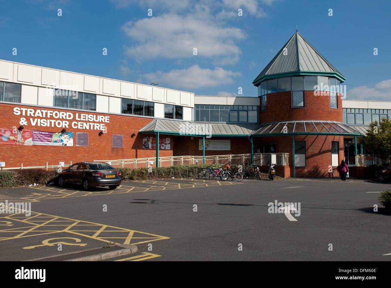 Stratford Leisure Centre Stratford Upon Avon Uk Stock Photos Stratford Leisure Centre