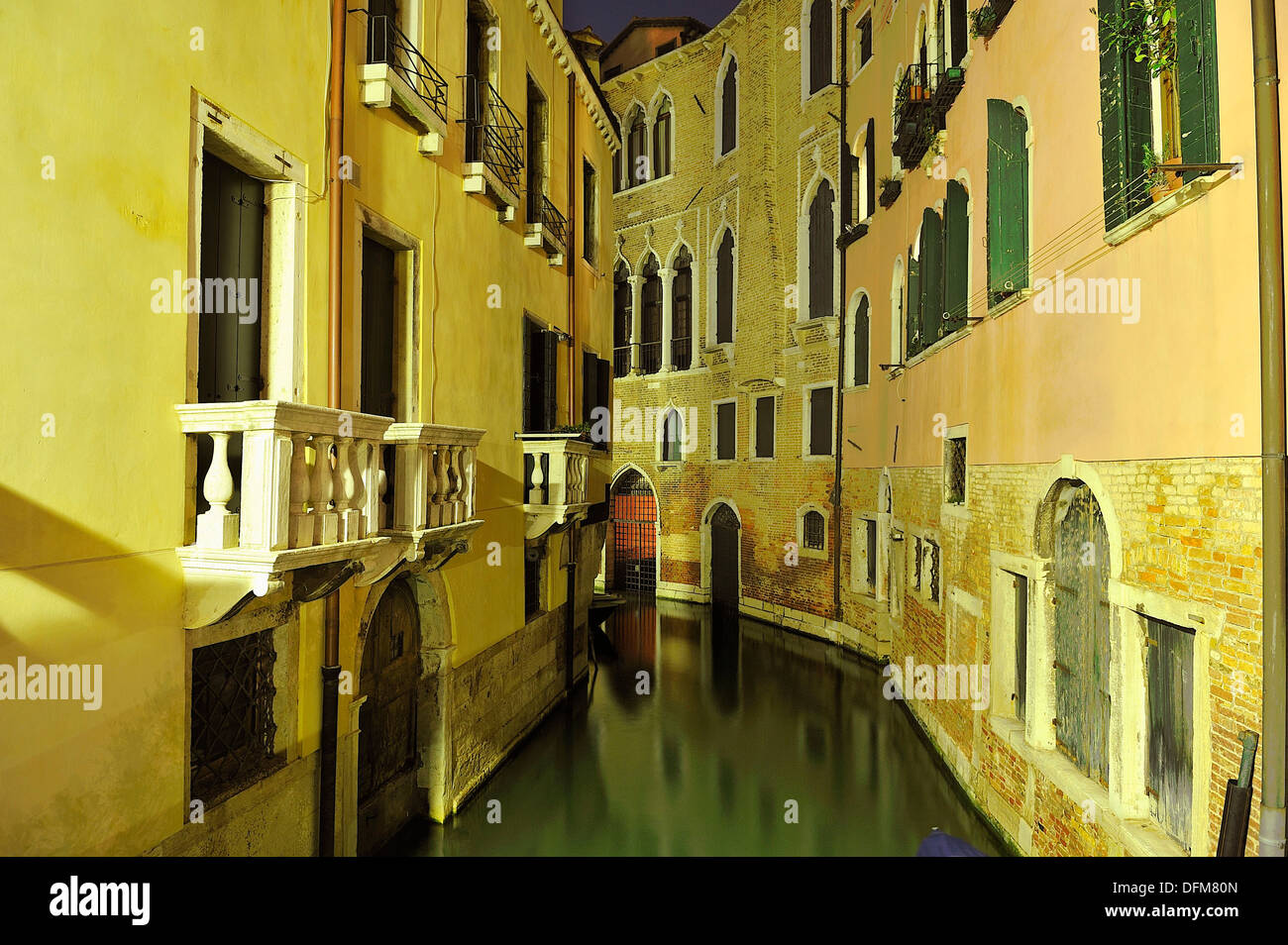 The city of Venice is sinking at a rate of one centimeter per year. - Stock Image