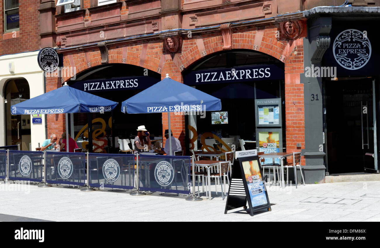 Pizza Express Outside Eating Oxford Street Southampton