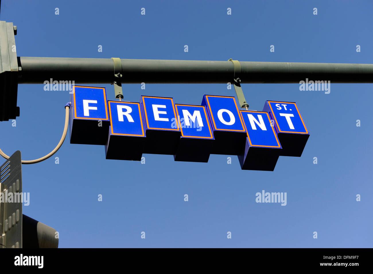 Fremont District Las Vegas Nevada vintage retro - Stock Image