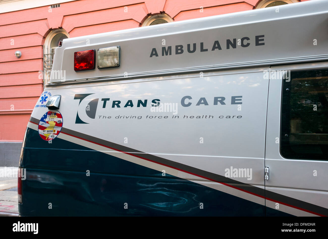 Ambulance on Lower East Side in New York City - Stock Image