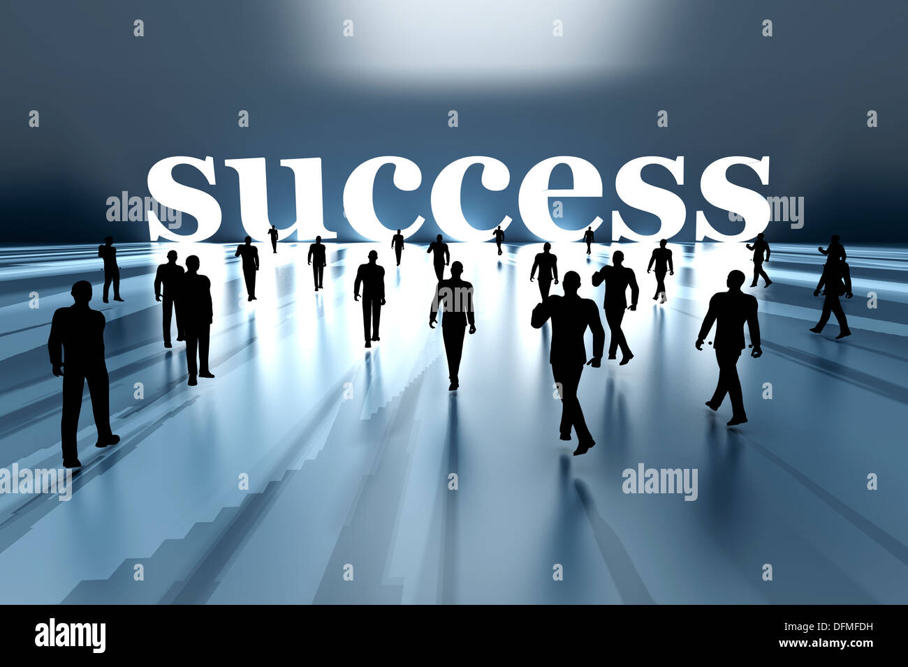 Walking Towards Success 3d Rendered Illustration Stock
