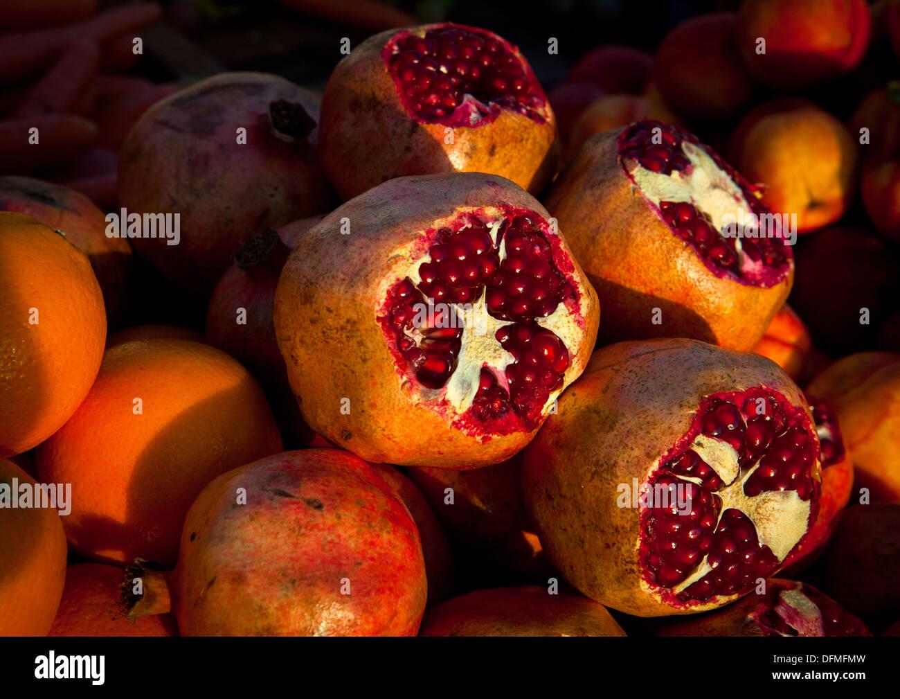 Pomegranates, Erbil, Kurdistan, Iraq - Stock Image