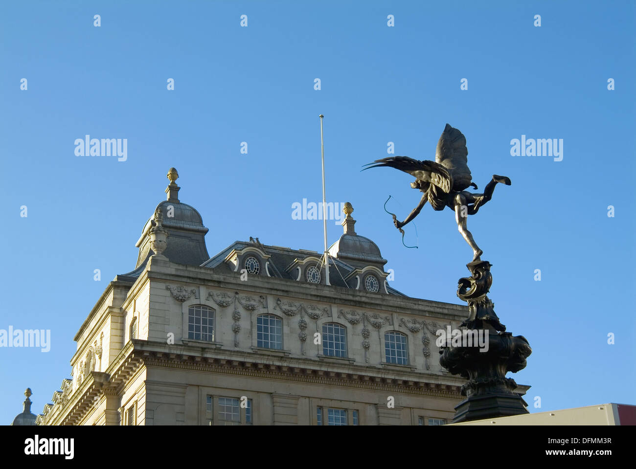 The Angel of Christian Charity statue (by Alfred. Gilbert, first in the world cast in aluminium and popularly know as 'eros'), - Stock Image