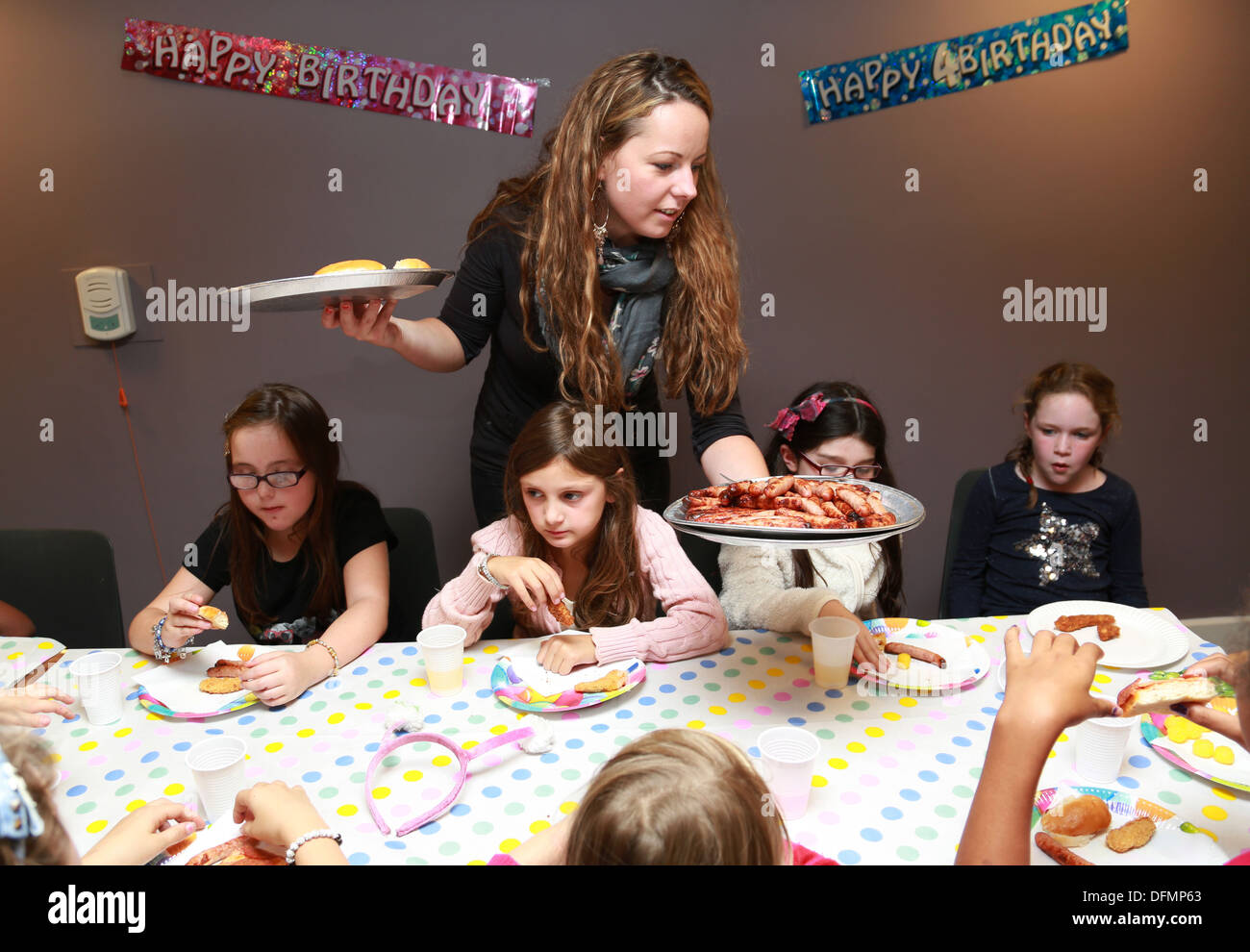 Kid's birthday party - Stock Image