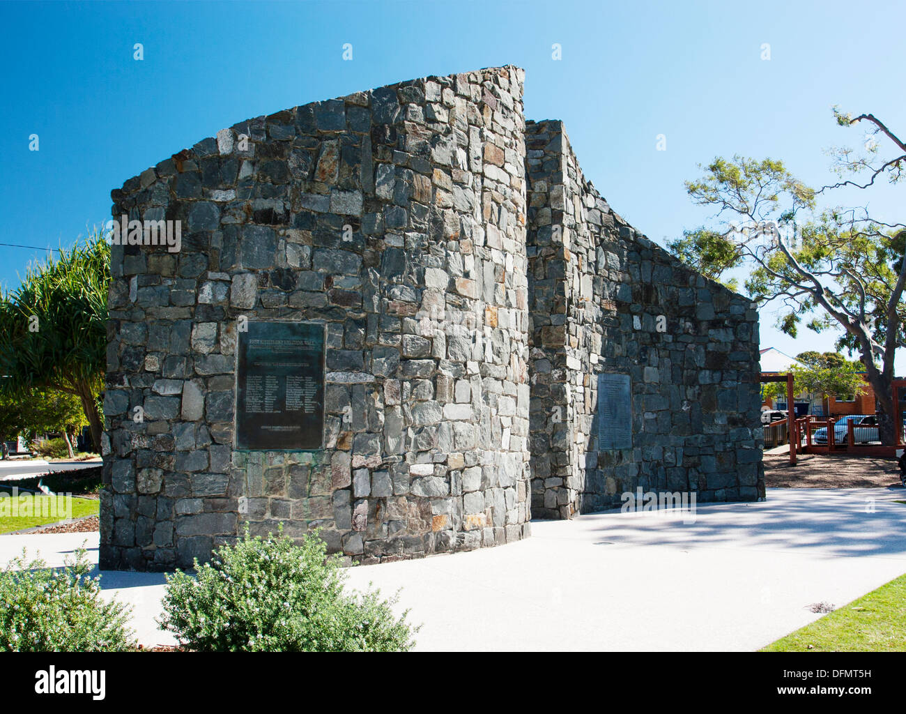 The site of the first convict settlement at Redcliffe Bay, Queensland, Australia. - Stock Image
