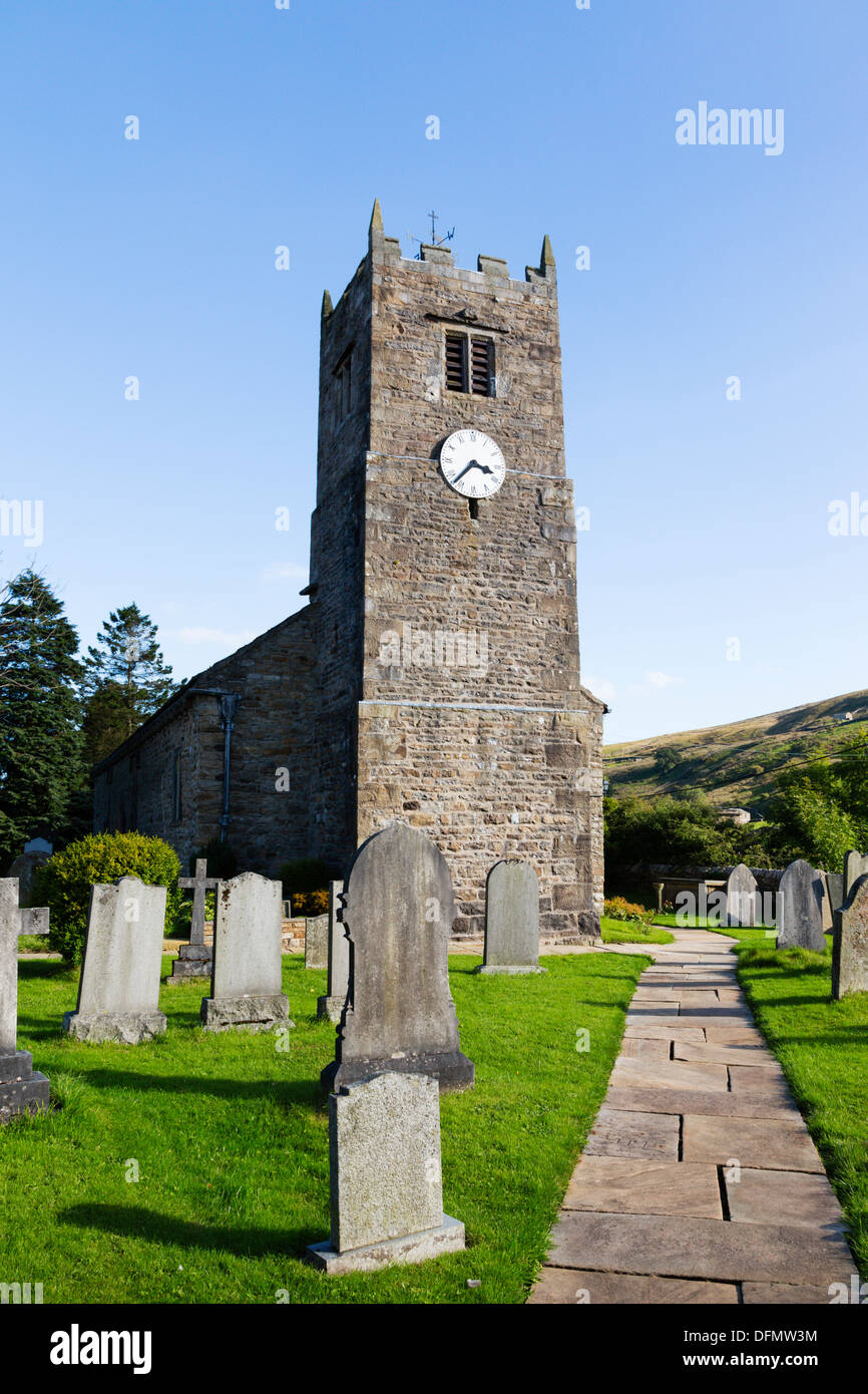 St Mary's church, Muker, Swaledale, Yorkshire Dales - Stock Image