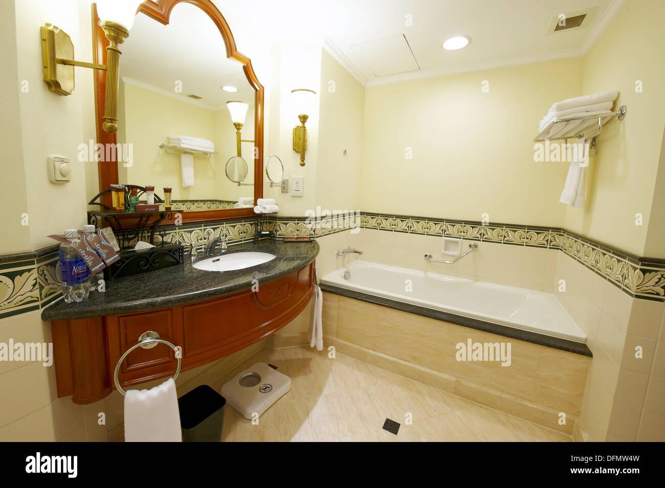 bathroom in a sheraton five star hotel stock photo 61309721 alamy rh alamy com 5 star hotel bathroom amenities 5 star hotel bathroom accessories