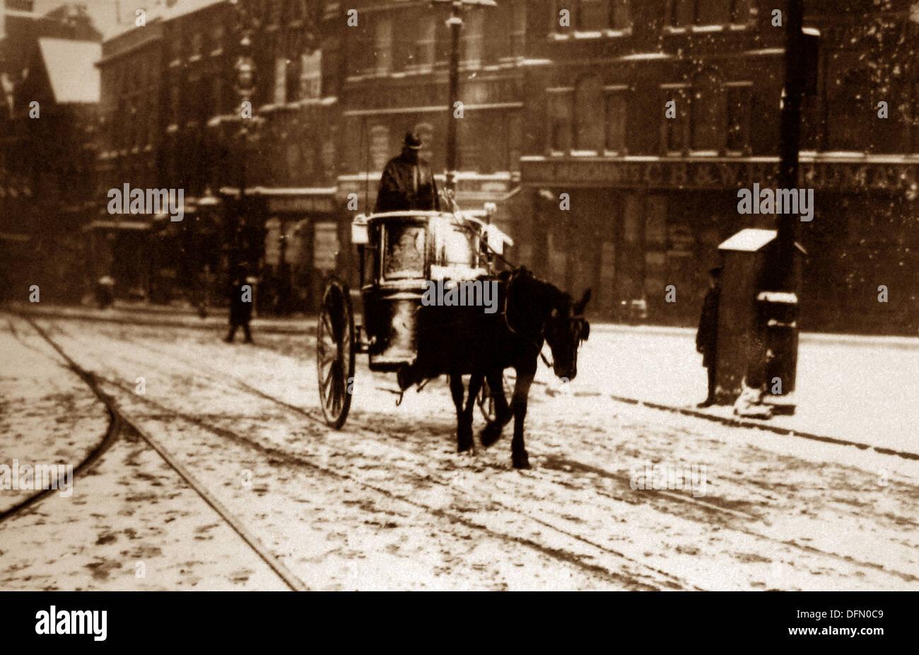 Nottingham Beastmarket Hill in 1909 - Stock Image